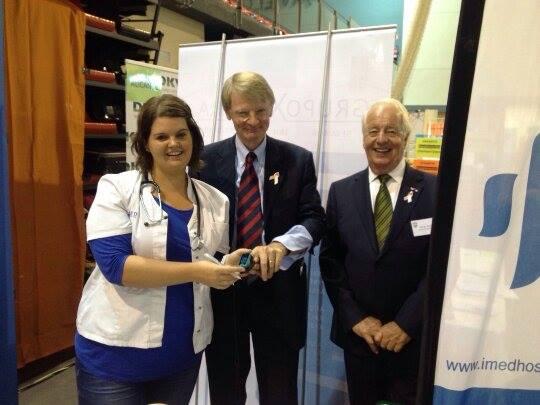 Cornelis Van Rij visits Stand IMED