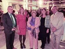Dominique Schoofs junto a Rudi Meyers y Yolanda Picket de IMED Hospitales.