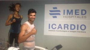 Miguel Ángel Nieto, jugador del Alcoyano, pasa el reconocimiento en IMED